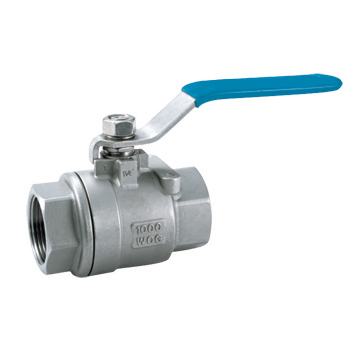 Two chip internal thread ball valve