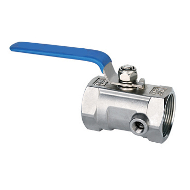 With testing hole type ball valve