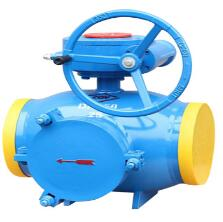 Gear welding strainer ball valve