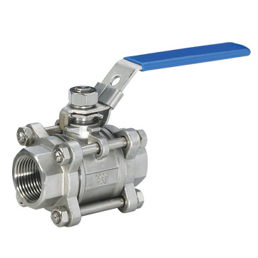 Three chip internal thread ball valve with a lock