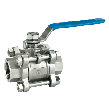 Three chip internal thread ball valve