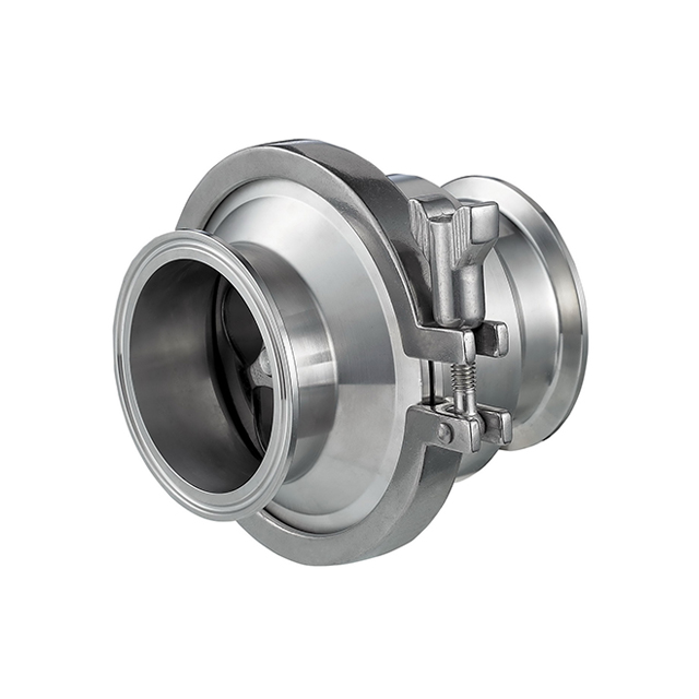 Clamped check valve